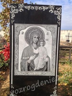 Фото иконы гравированной на памятнике
