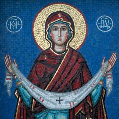 мозаика Покров Пресвятой Богородицы