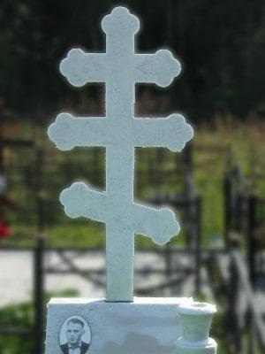 крест голгофа (белый мрамор)