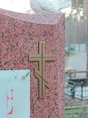 Православный бронзовый крест на памятник