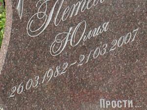 Прописной шрифт на памятнике