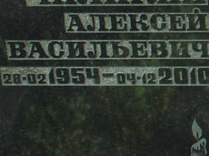 Рельефный шрифт на памятнике